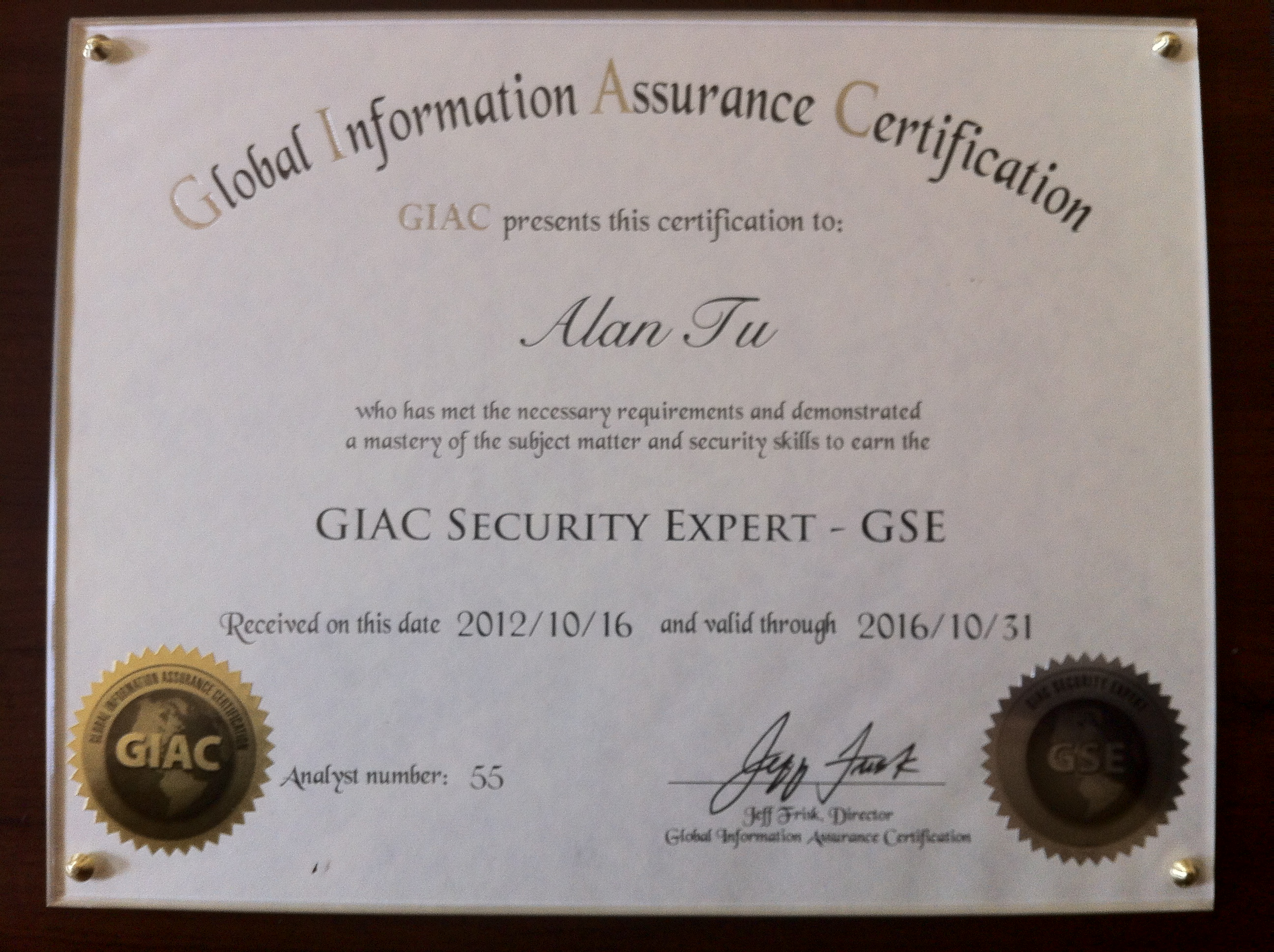 Gse Certification Images - Free Certificates for All